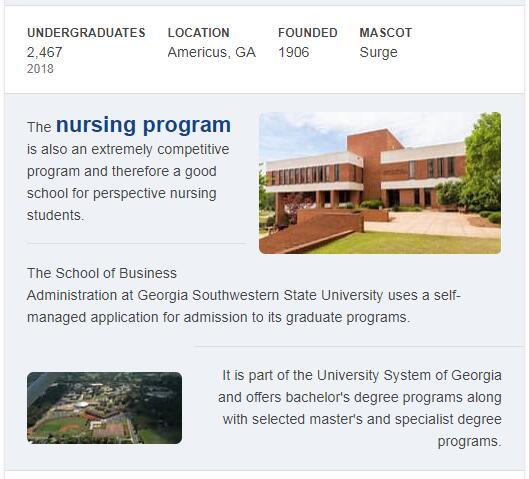 Georgia Southwestern State University History
