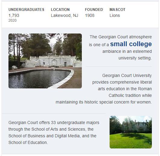 Georgian Court University History