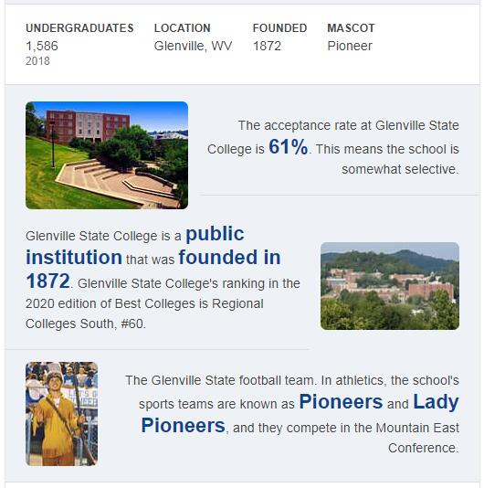 Glenville State College History