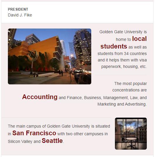 Golden Gate University History