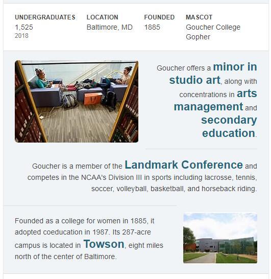 Goucher College History