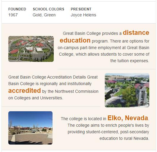 Great Basin College History