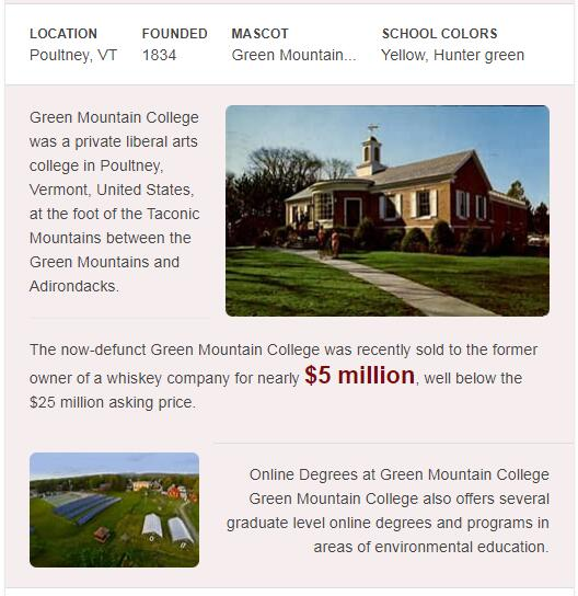 Green Mountain College History