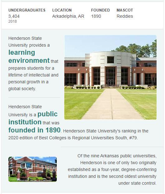 Henderson State University History
