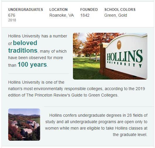 Hollins University History