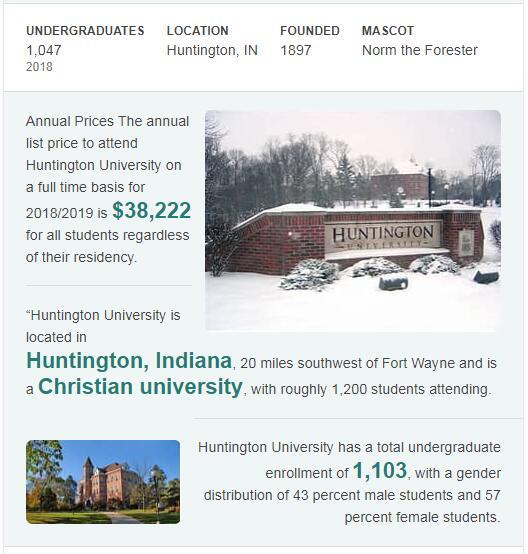 Huntington University History