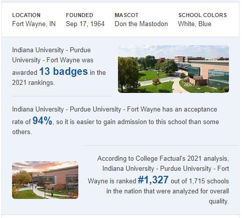 Indiana University-Purdue University-Fort Wayne History