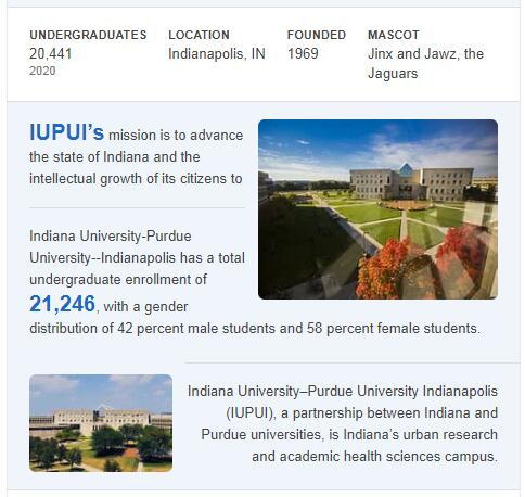 Indiana University-Purdue University-Indianapolis History