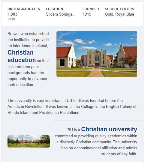 John Brown University History