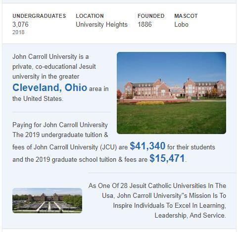 John Carroll University History