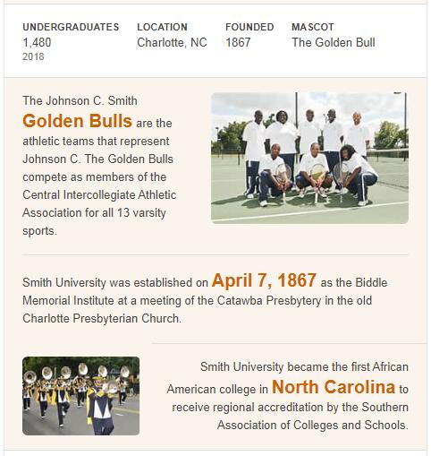 Johnson C. Smith University History