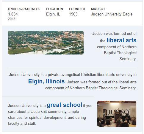 Judson University History