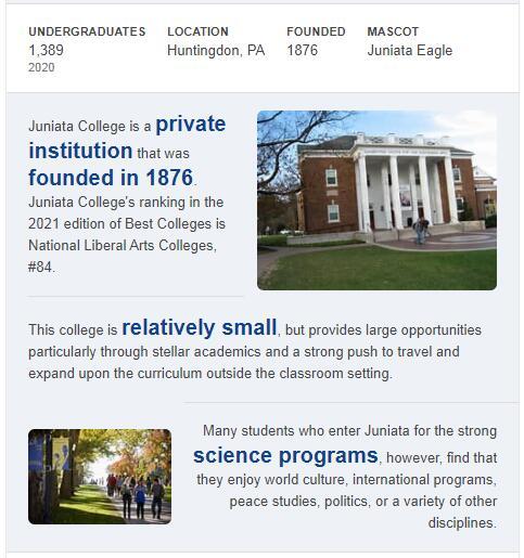 Juniata College History