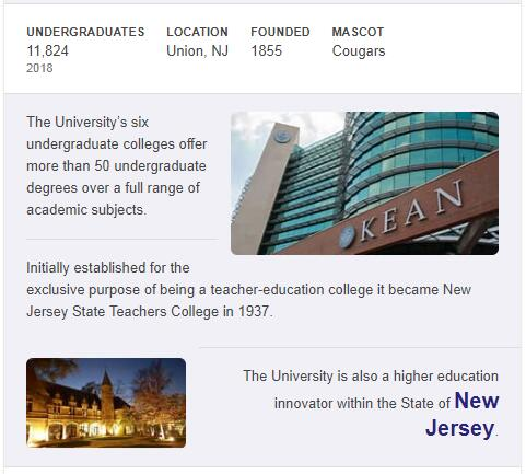 Kean University History