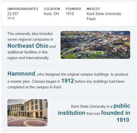 Kent State University History