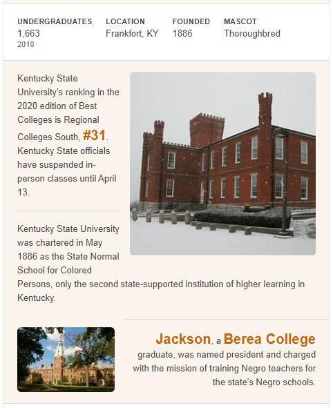 Kentucky State University History