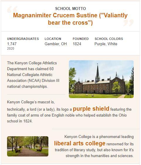 Kenyon College History