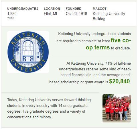 Kettering University History