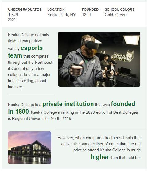 Keuka College History
