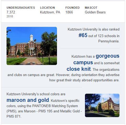 Kutztown University of Pennsylvania History