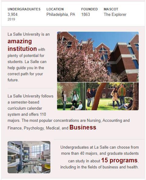 La Salle University History