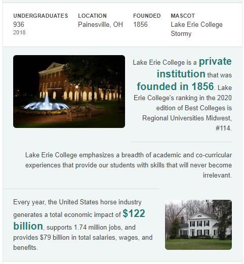 Lake Erie College History