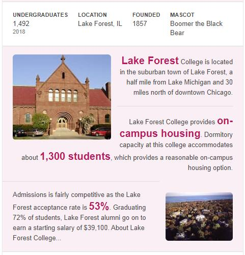 Lake Forest College History