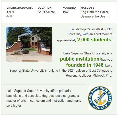 Lake Superior State University History