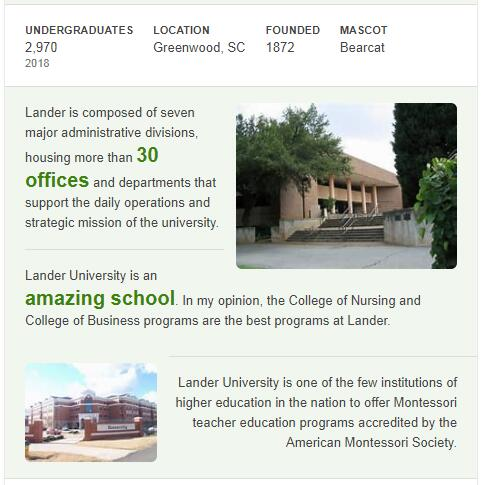 Lander University History