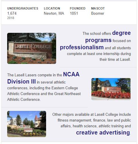 Lasell College History