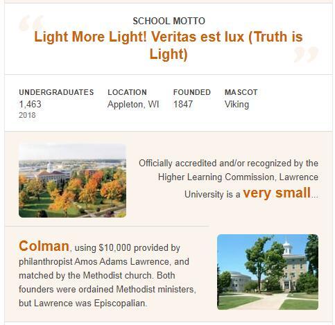 Lawrence University History