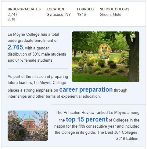 Le Moyne College History
