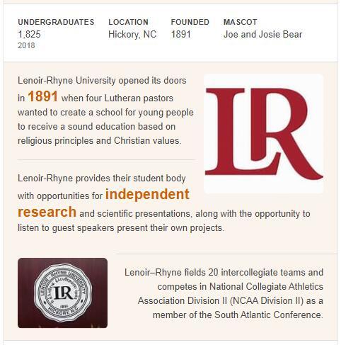 Lenoir-Rhyne University History