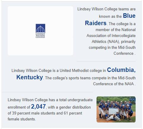 Lindsey Wilson College History