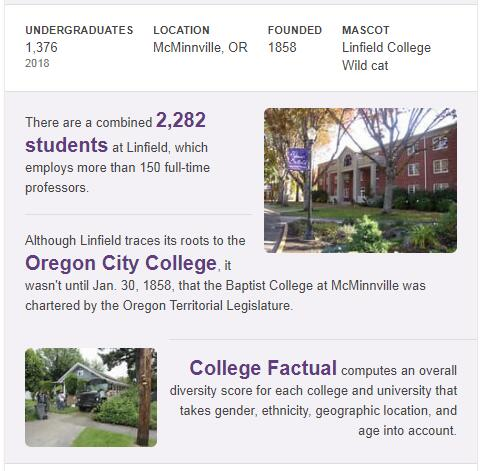 Linfield College History
