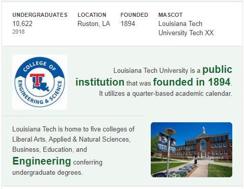 Louisiana Tech University History