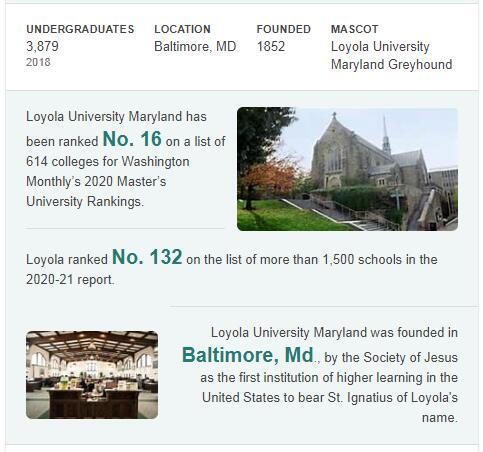 Loyola University Maryland History