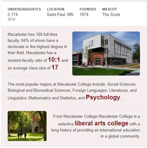 Macalester College History