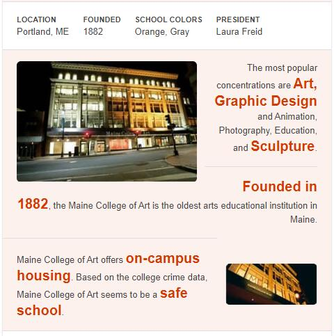 Maine College of Art History