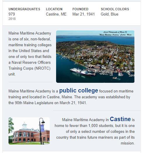 Maine Maritime Academy History