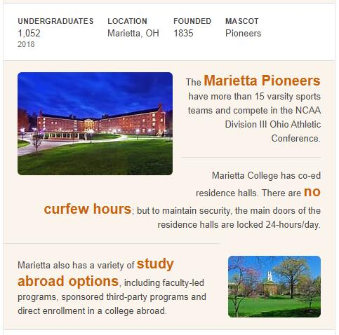 Marietta College History