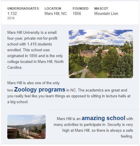 Mars Hill College History