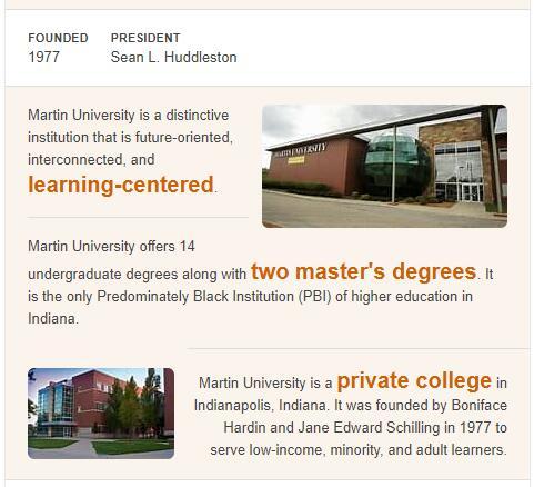 Martin University History