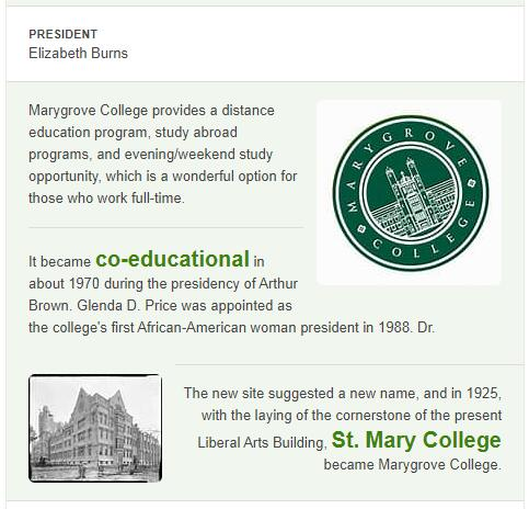 Marygrove College History