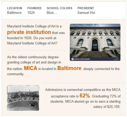 Maryland Institute College of Art History