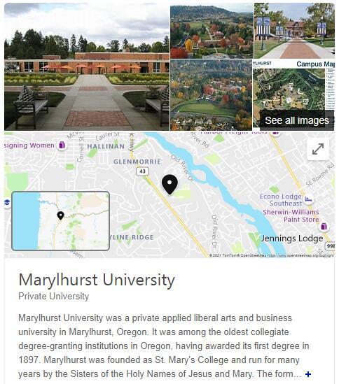 Marylhurst University History