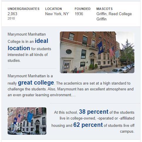 Marymount Manhattan College History