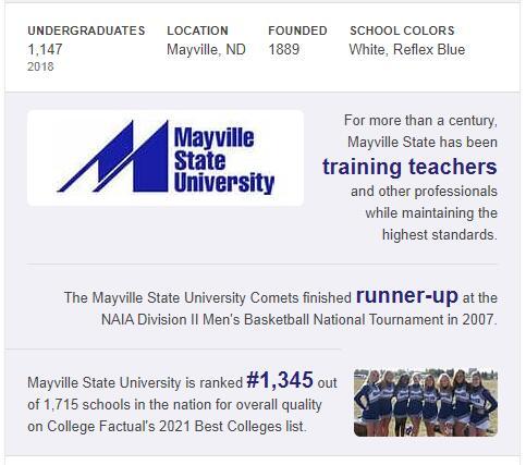 Mayville State University History
