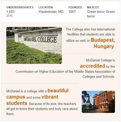 McDaniel College History