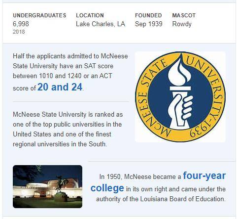 McNeese State University History